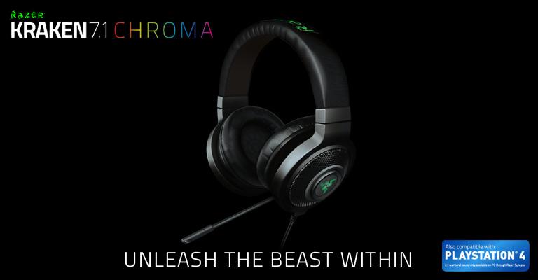 Razer Kraken 7 1 Chroma - Buy online from Amazon, Scan