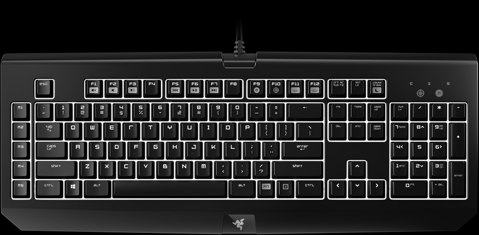 razer blackwidow chroma v1 mechanical gaming keyboard