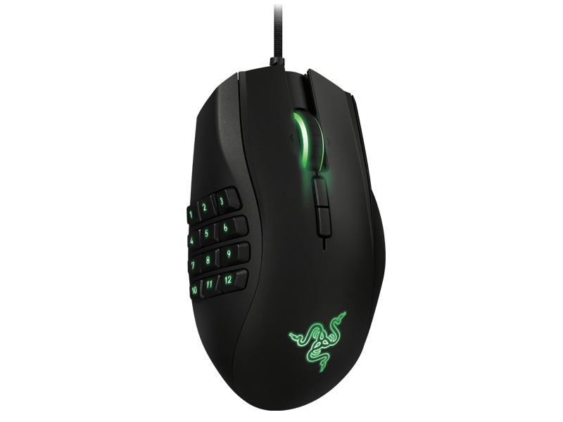 Razer Naga Gaming Mouse - Ergonomic MMO Gaming Mouse