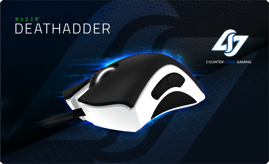 Razer DeathAdder eSports Edition – Counter Logic Gaming - See more at: http://www.razerzone.com/licensed-and-team-peripherals/counter-logic-gaming-razer-deathadder-e-sports-edition/#sthash.OTZO9l3B.dpuf