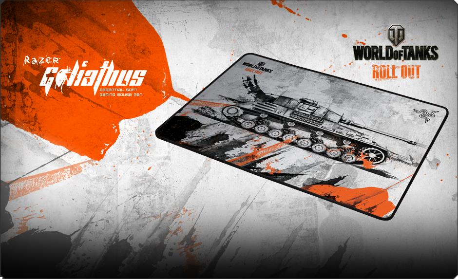 World Of Tanks Razer Goliathus Soft Gaming Mouse Mat