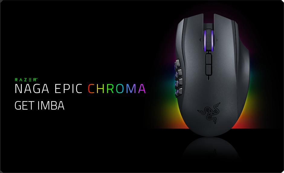 razer naga epic chroma multi-color wireless mmo gaming mouse