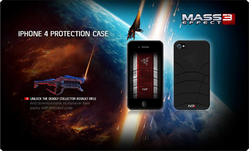 Mass Effect 3 Razer Iphone 4 Protection Case Gaming Cases