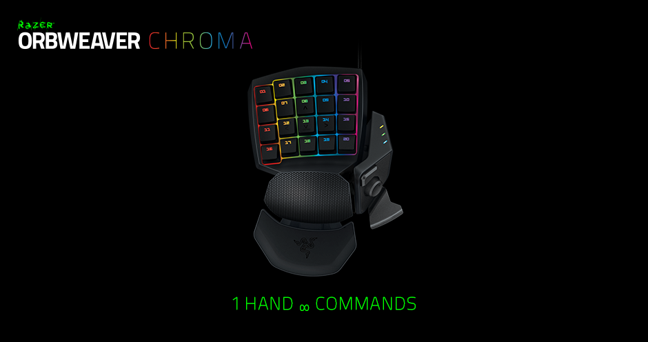 Razer Orbweaver Chroma Gaming Keypad - Mechanical Switch Keypad
