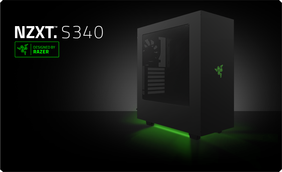 Nzxt S340 Designed By Razer Licensed Computer Case