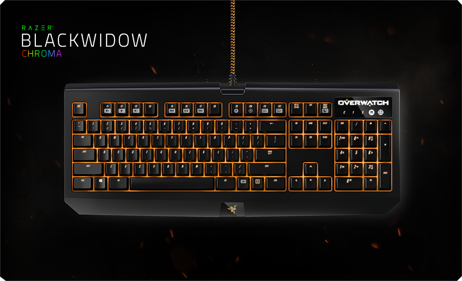 Image result for RAZER KB BLACKWIDOW CHROMA OVERWATCH