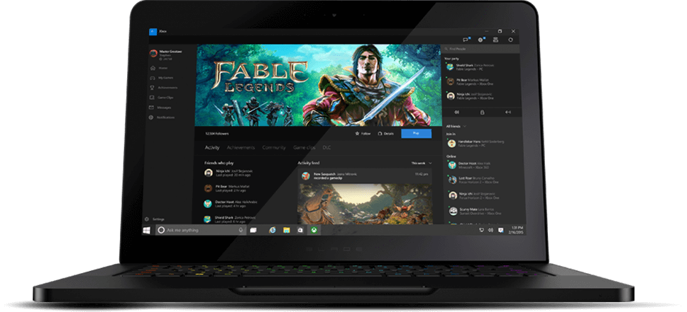 Windows 10 Razer Blade