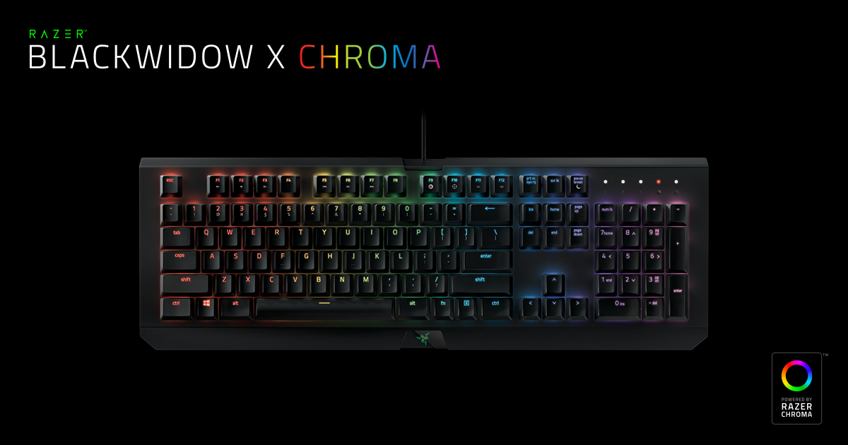 Mechanical Gaming Keyboard - Razer BlackWidow X Chroma