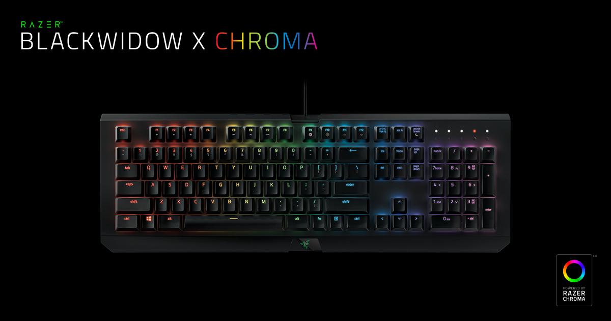 Razer BlackWidow X Chroma Mechanical Gaming Keyboard NORDIC Layout - QWERTY