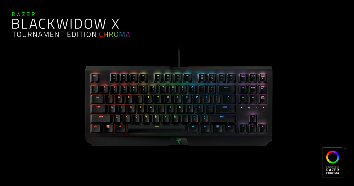 Mechanical Gaming Keyboard - Razer BlackWidow X Tournament