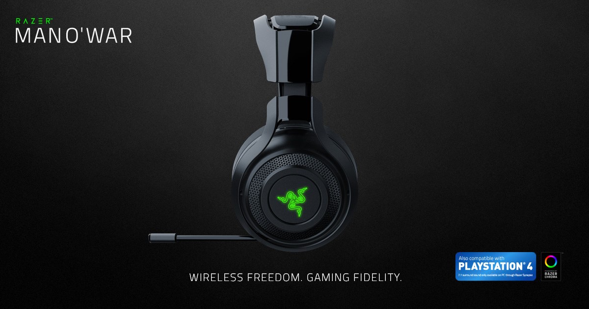 Wireless Pc Gaming Headset Razer Mano War