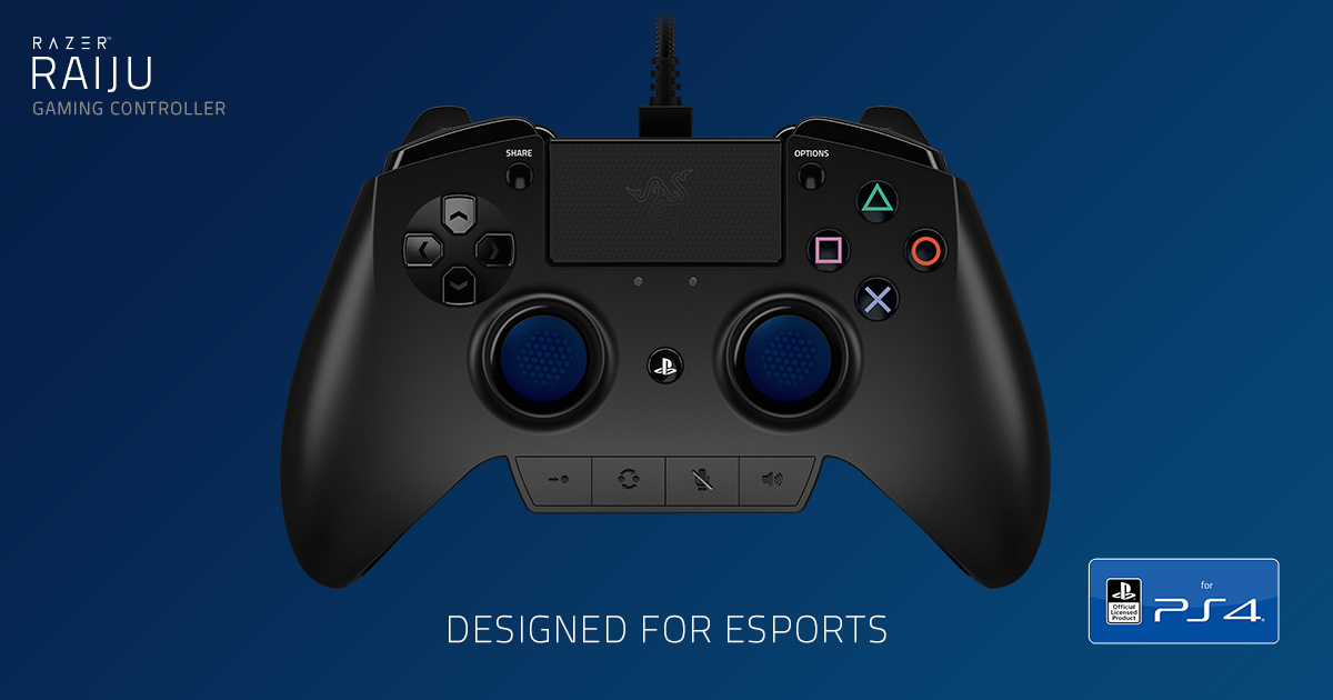 Gaming Controller For Ps4 Razer Raiju