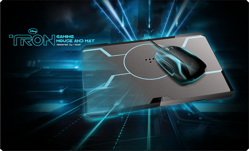 Tron 174 Gaming Mouse And Mouse Mat Bundle Designed By Razer