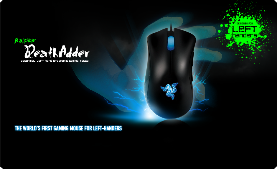 2357e123c4f Razer DeathAdder Left-Hand Edition Gaming Mice: The World's First ...