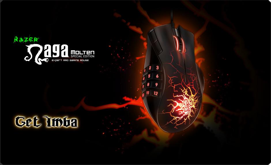 Razer Naga Molten Gaming Mouse Expert MMO Mice