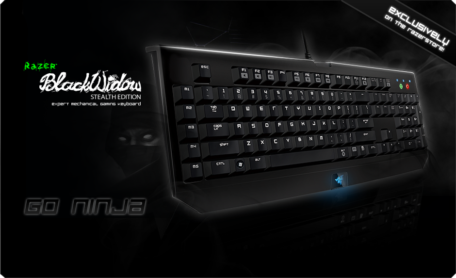 Razer BlackWidow Stealth Edition Gaming Keyboard - Expert Mechanical Gaming Keyboard - Razer ...