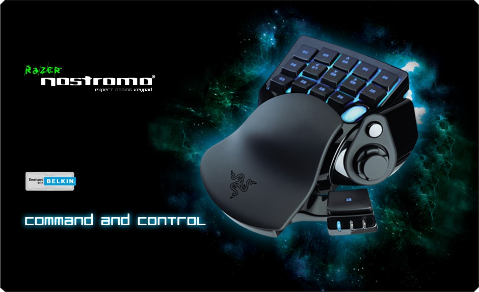 Razer Nostromo Gaming Keypad - Ergonomic Keypad for Gaming