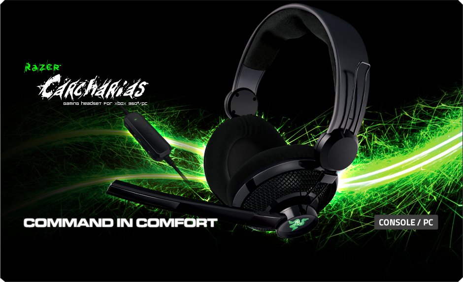 Razer Carcharias Gaming Headset - Xbox 360 / PC Gaming