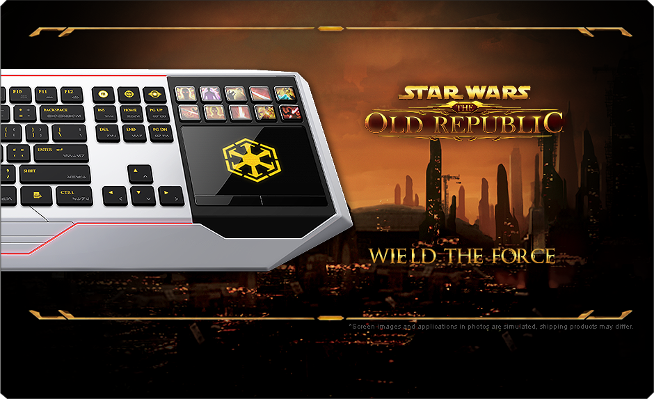 Star Wars The Old Republic Gaming Keyboard By Razer Adaptive - Star wars old republic us map