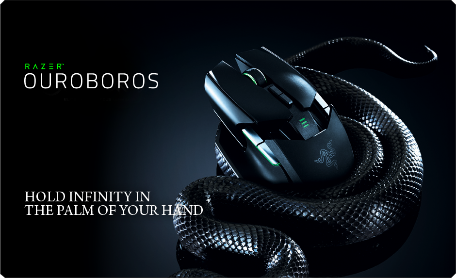 Razer Ouroboros Gaming Mouse Wired Wireless Mouse For