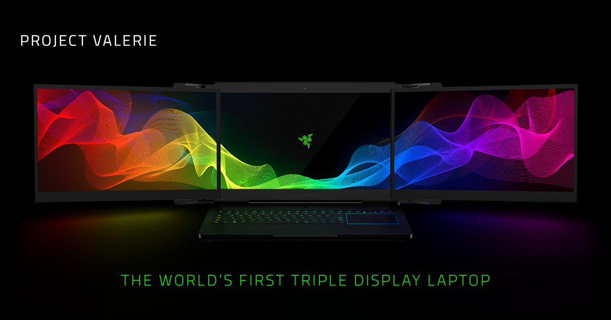 Razer Project Valerie - Triple Display Laptop | Razer United