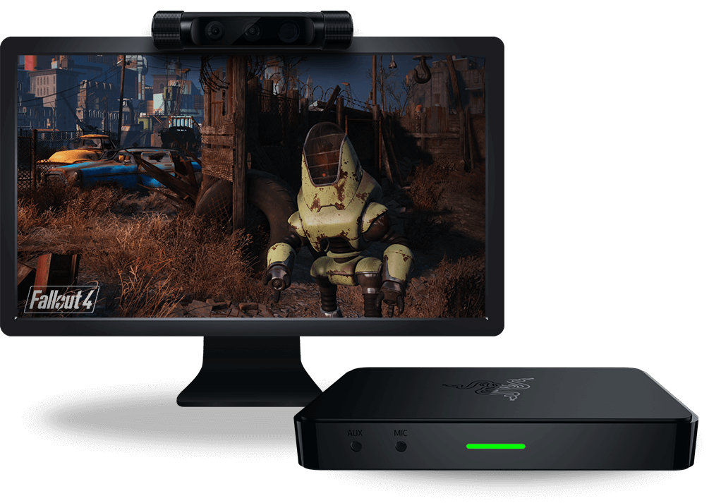 Razer Ripsaw capture card with Razer Stargazer Webcam